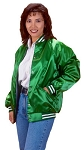Cardinal Activewear light lined Satin Baseball Jacket