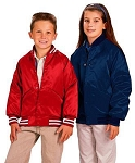 Cardinal Activewear Youth quilt lined Satin Baseball Jacket