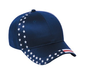 United States Flag Design Cotton Twill Low Profile Pro Style Cap; Style 686US No Embroidery