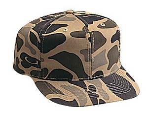 Camouflage Cotton Twill Regular Profile Pro Style Cap; Style 529