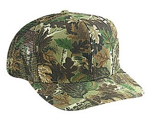 Camouflage Cotton Twill Regular Profile Pro Style Mesh Back  Adjustable Cap; Style 528