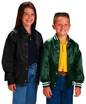 Cardinal Activewear light lined Youth Satin Baseball Jacket