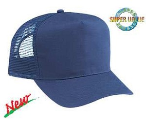 Cotton Twill 5-Panel Pro Style Regular Profile Mesh Back Adjustable Cap; Style 544